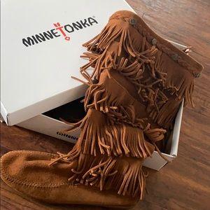 Brown Minnetonka Boots